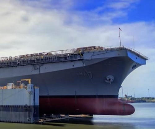 New America-class amphibious assault ship launched early