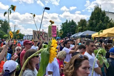 Protesters rally at NRA headquarters in Virginia