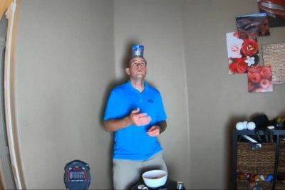 Man catches 52 nuts on head for Guinness World Record