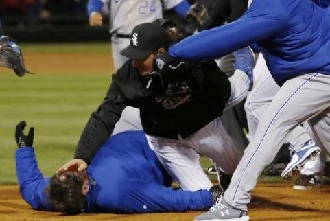 Awe Inspiring Mlb Suspends Fines 7 Players For Royals White Sox Brawl Onthecornerstone Fun Painted Chair Ideas Images Onthecornerstoneorg