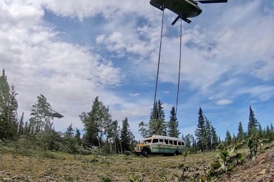 Alaska National Guard uses helicopter to move 'Into the Wild' bus