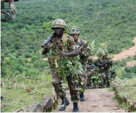Nigerian army patrols uncover Boko Haram weapons cache