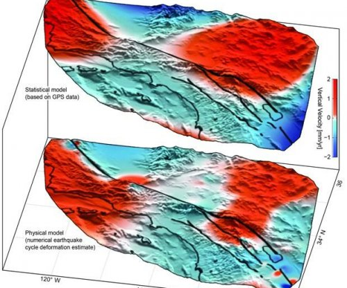 Large-scale motion detected near San Andreas Fault System