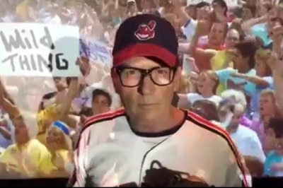 """Watch: Charlie Sheen revives """"Wild Thing"""" for Cleveland Indians' World Series"""