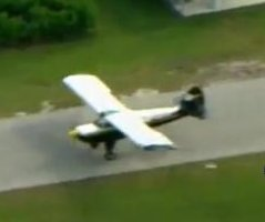 Small plane lands on driving track where deputies were training