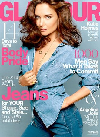 Katie Holmes poses topless for Glamour, talks dating