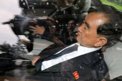 North Korea's Kim Chang Son arrives at Beijing airport