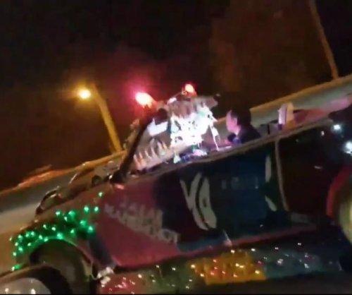 Bizarre 'Mad Max' car seen driving on Thailand road