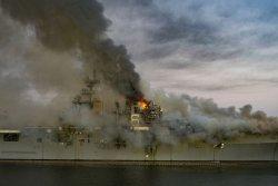 Contractors set to begin removing USS Bonhomme Richard's island