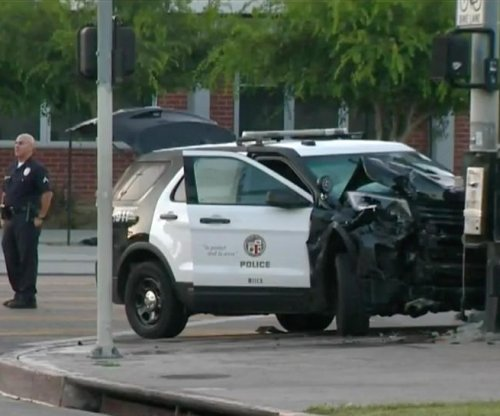 Teen LAPD cadets arrested after chase in stolen patrol cars, police say