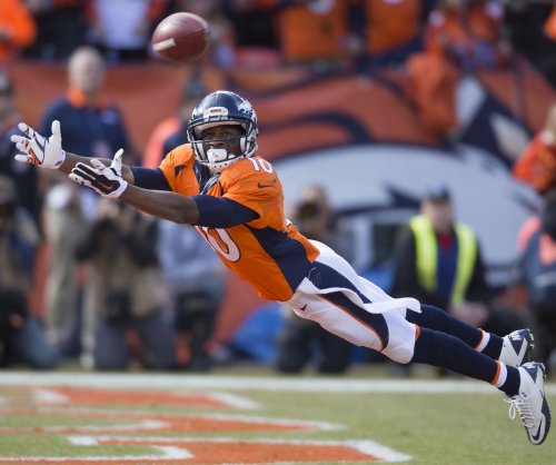 Denver Broncos WRs Emmanuel Sanders, Isaiah McKenzie out with sprained ankles
