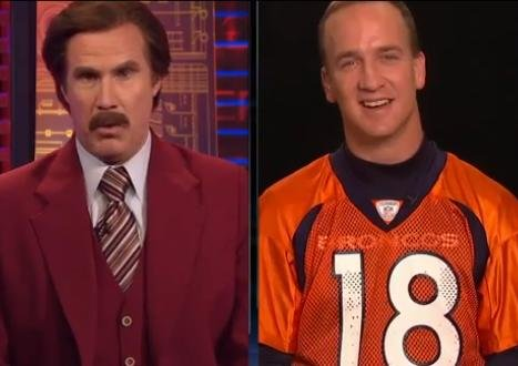 Ron Burgundy interviews Peyton Manning on SportsCenter