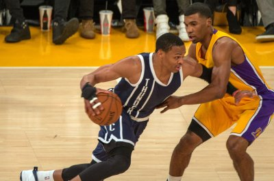 Westbrook leads Oklahoma City Thunder into matchup with Los Angeles Lakers