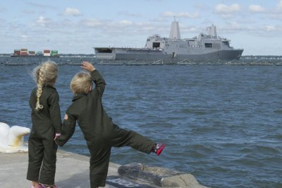 USS Arlington departs for maiden deployment