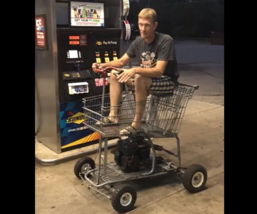 Motorized shopping cart gases up in Tennessee
