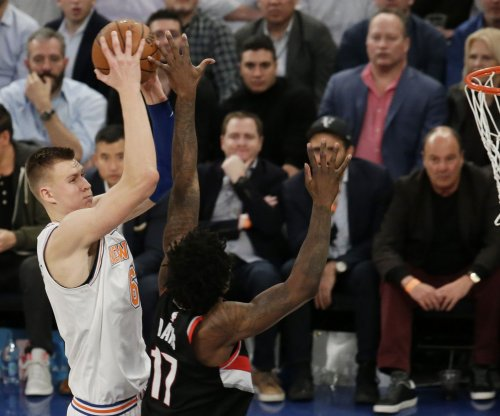 Kristaps Porzingis: New York Knicks F sustains ankle injury