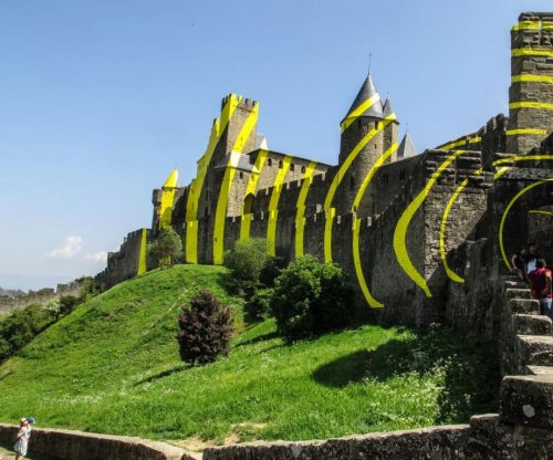 Locals angered over artwork covering medieval French fortress