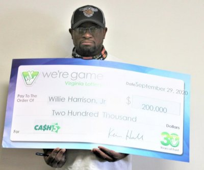 Virginia man wins his second Cash 5 lottery jackpot in two years