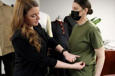 Marine Corps prepares maternity uniforms