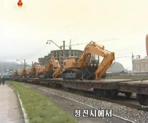 North Korea workers endured freezing weather to build railroad