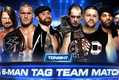 WWE Smackdown: Jinder Mahal pins Randy Orton during 6-Man Tag Match
