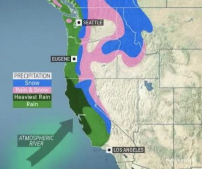 Massive storm looming over Pacific to wreak havoc up and down West Coast