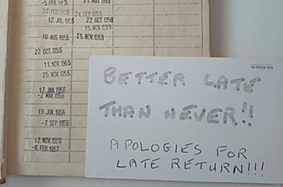 Overdue book returned to British library after 63 years