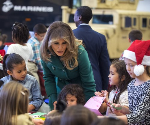 Melania Trump helps Toys for Tots drive at military base