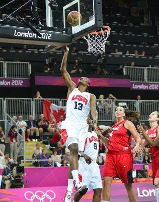 U.S. women roll into basketball semis