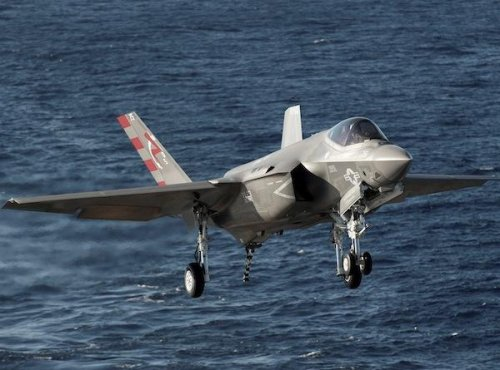 F-35s proving capabilities from aircraft carrier