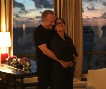 Salma Hayek, husband Francois-Henri Pinault cozy up in rare photo