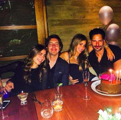 Sofia Vergara cozies up to beau Joe Manganiello on her birthday