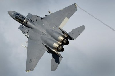 U.S. F-15s participate in U.K. exercise Typhoon Warrior