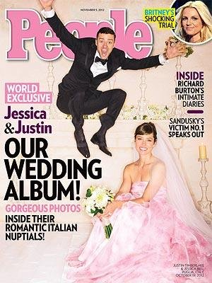 Timberlake jumps for joy in wedding photo