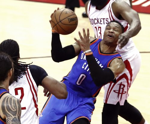 Rockets' Beverley clowns Thunder's Westbrook in postgame poke