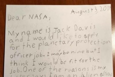 9-year-old applies for NASA planetary protection job