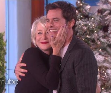 James Marsden meets crush Helen Mirren on 'Ellen'