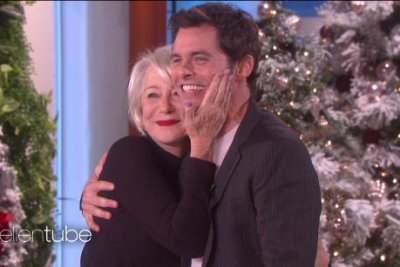 James Marsden meets crush Helen Mirren on 'Ellen'
