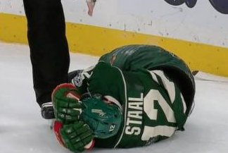 Minnesota Wild C Eric Staal crashes into boards, taken to hospital