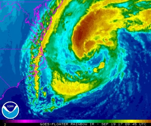 Jose still Category 1 hurricane as it moves toward U.S. Northeast
