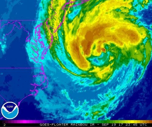 Jose weakens to tropical storm; could bring 'dangerous' surf to east coast