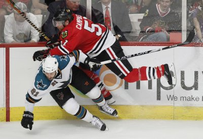 Sharks' Nichol suspended for 4 games
