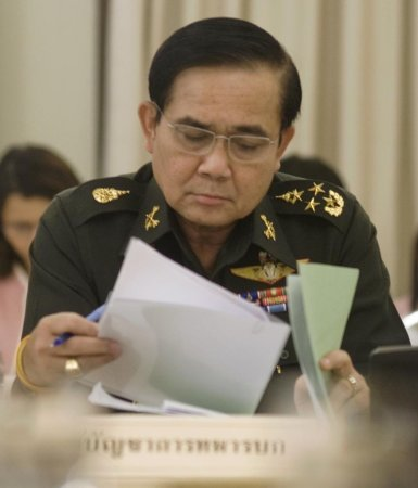 Military coup leader presents agenda to stabilize Thailand