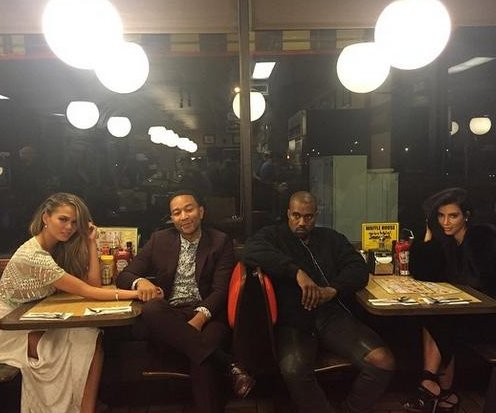 Chrissy Teigen, John Legend double date with Kim Kardashian, Kanye West