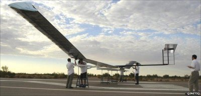 Zephyr high-altitude unmanned aircraft flown in Middle East