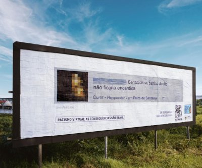 Brazilian group shames racist commenters with billboards
