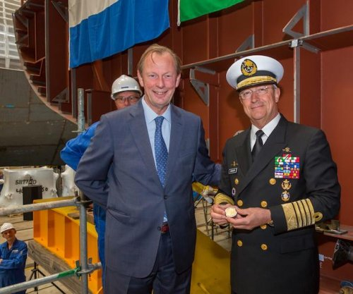 Damen lays keel for Mexican naval ship