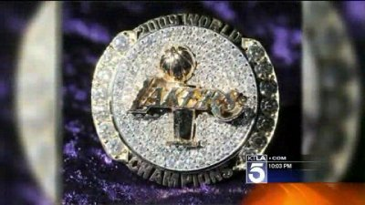 Lakers security guard arrested for stealing championship rings
