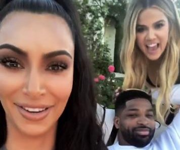 Khloe Kardashian spends 34th birthday with Tristan Thompson, her sisters