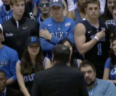 Coach Mike Krzyzewski scolds Duke students after Capel chant